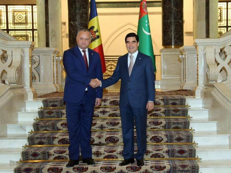 PRESEDINTELE IGOR DODON A ADRESAT UN MESAJ DE FELICITARE PRESEDINTELUI TURKMENISTANULUI, GURBANGULY BERDIMUHAMEDOW, CU OCAZIA ZILEI SALE DE NASTERE