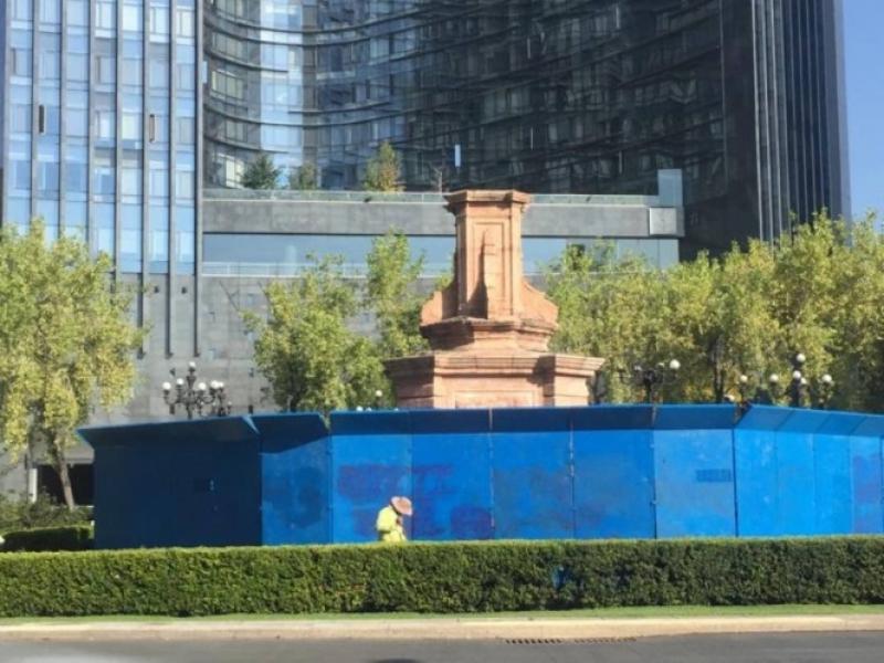 La Ciudad de Mexico, a fost demontata o statuie a lui Cristofor Columb