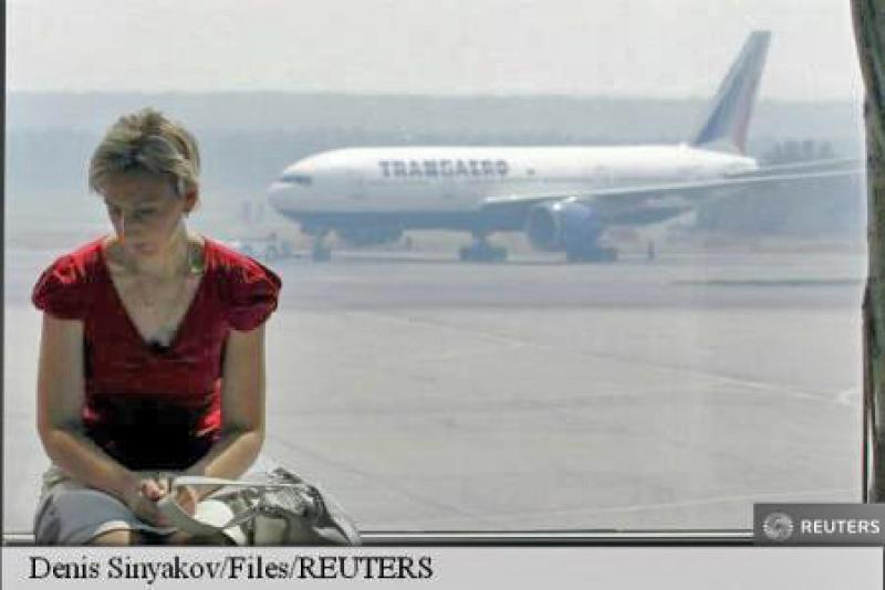 INCENDIU LA AEROPORTUL DOMODEDOVO DIN MOSCOVA