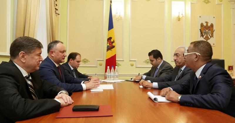 PRESEDINTELE IGOR DODON A AVUT O INTREVEDERE CU AMBASADORUL STATULUI QATAR IN REPUBLICA MOLDOVA