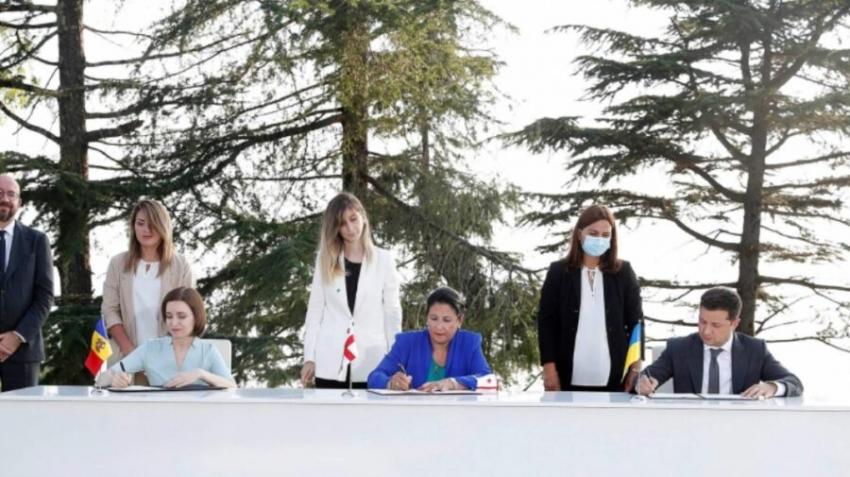 ADERAREA LA UE – UN OBIECTIV COMUN. DECLARATIE SEMNATA DE MOLDOVA, GEORGIA SI UCRAINA