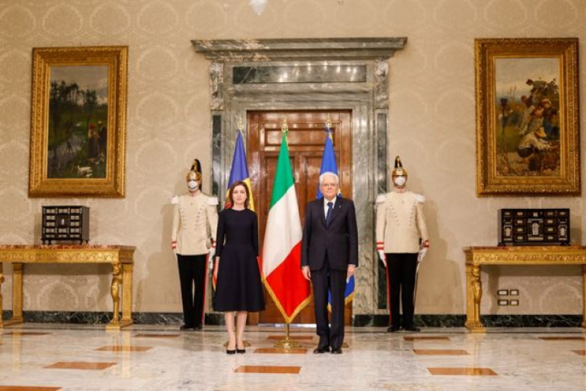 MAIA SANDU S-A INTILNIT CU OMOLOGUL SAU ITALIAN, SERGIO MATARELLA