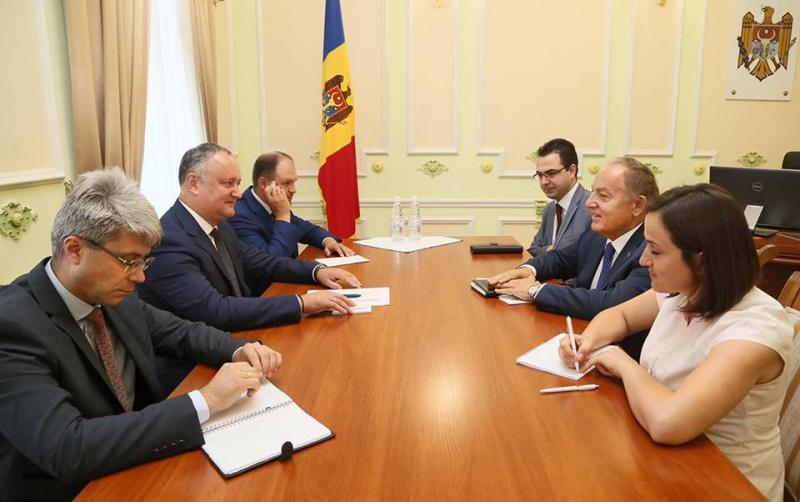 Presedintele Republicii Moldova a avut o intrevedere cu ambasadorul Republicii Turci