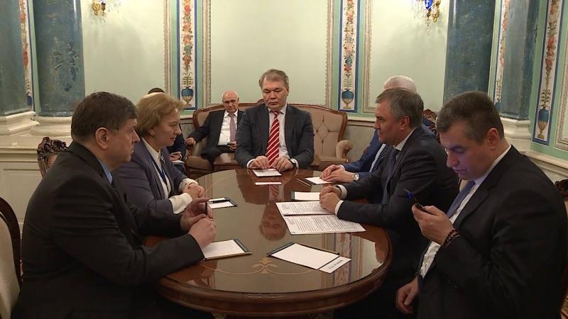 ZINAIDA GRECEANII A AVUT O INTREVEDERE CU PRESEDINTELE DUMEI DE STAT A FEDERATIEI RUSE