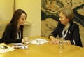 ZINAIDA GRECEANII A AVUT O INTREVEDERE CU PRESEDINTELE UIP, GABRIELA CUEVAS BARRON