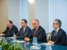 PRESEDINTELE REPUBLICII MOLDOVA A AVUT O INTREVEDERE CU DELEGATIA COALITIEI NATIONALE PENTRU SUSTINEREA EVREILOR DIN EURASIA