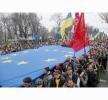 MANIFESTANŢII CONTINUĂ SĂ PROTESTEZE ÎN CENTRUL KIEVULUI ÎMPOTRIVA SUSPENDĂRII ACORDULUI CU UE