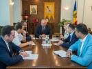 Presedintele tarii, Igor Dodon, presedintele Parlamentului si conducerea fractiunii PSRM s-au intrunit intr-o sedinta de lucru
