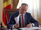 IGOR DODON, PRESEDINTELE REPUBLICI MOLDOVA A PRIMIT IN AUDIENTA CETATENI
