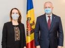 PRESEDINTELE REPUBLICII MOLDOVA A AVUT O INTREVEDERE CU PRESEDINTELE UNIUNII INTERPARLAMENTARE