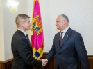 PRESEDINTELE R. MOLDOVA A AVUT O INTREVEDERE CU NOUL AMBASADOR AL MARII BRITANII