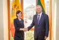 PRIM-MINISTRUL REPUBLICII MOLDOVA, MAIA SANDU, S-A INTILNIT CU OMOLOGUL SAU LITUANIAN, SAULIUS SKVERNELIS