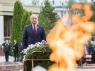 """PRESEDINTELE REPUBLICII MOLDOVA A PARTICIPAT LA CEREMONIA SOLEMNA DE DEPUNERE A FLORILOR LA MEMORIALUL GLORIEI MILITARE """"ETERNITATE"""""""