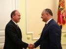 Igor Dodon s-a intilnit cu Ambasadorul Extraordinar si Plenipotentiar al Romaniei in Republica Moldova