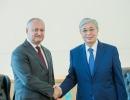 PRESEDINTELE IGOR DODON A ADRESAT UN MESAJ DE FELICITAREPRESEDINTELUI REPUBLICII KAZAHSTAN, KASIM-JOMART TOKAEV