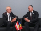 PRESEDINTELE REPUBLICII MOLDOVA A AVUT O INTREVEDERE CU PRESEDINTELE REPUBLICII AUSTRIA