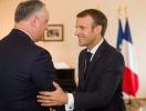 Presedintele Dodon, invitat la Paris de Presedintele Frantei