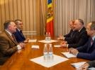 PRESEDINTELE R. MOLDOVA, IGOR DODON, A AVUT O INTREVEDERE CU PRESEDINTELE ORGANIZATIEI INTERNATIONALE PENTRU FAMILIE, BRIAN BROWN