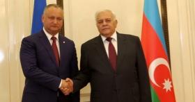 PRESEDINTELE TARII, IGOR DODON A AVUT O INTREVEDERE CU PRESEDINTELE MILLI MAJLISULUI (ADUNARII NATIONALE) A AZERBAIDJANULUI, OQTAY ASADOV