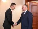PRESEDINTELE MOLDOVEI A AVUT O INTREVEDERE CU MINISTRUL DE EXTERNE AL UNGARIEI