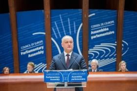 DISCURSUL DOMNULUI IGOR DODON, PRESEDINTELE REPUBLICII MOLDOVA, LA SESIUNEA ORDINARA A ADUNARII PARLAMENTARE A CONSILIULUI EUROPEI