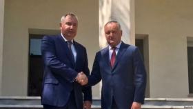 Igor Dodon si Dmitri Rogozin au avut o intrevedere la Teheran
