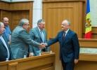 PRESEDINTELE TARII A AVUT O INTREVEDERE CU MEMBRII COMITETULUI CONFEDERAL AL CONFEDERATIEI NATIONALE A SINDICATELOR DIN MOLDOVA