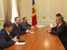 IGOR DODON, PRESEDINTELE REPUBLICII MOLDOVA A AVUT O INTREVEDERE CU PIRKKA TAPIOLA, SEFUL MISIUNII UE LA CHISINAU