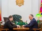 Igor Dodon a avut o intrevedere cu Andrei Neguta