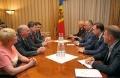 PRESEDINTELE R. MOLDOVA, IGOR DODON, A AVUT O INTREVEDERE CU ADJUNCTUL ADMINISTRATORULUI BIROULUI USAID PENTRU EUROPA SI EURASIA, BROCK BIERMAN