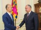 PRESEDINTELE R. MOLDOVA A AVUT O INTREVEDERE DE LUCRU CU AMBASADORUL REPUBLICII POPULARE CHINEZE IN TARA NOASTRA