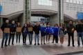 MOLDOVENII DIN BELGIA AU IESIT LA O MANIFESTATIE PASNICA IN FATA PARLAMENTULUI EUROPEAN