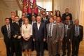 PRESEDINTELE R. MOLDOVA A AVUT O INTREVEDERE CU UN GRUP DE PARTICIPANTI LA CURSUL COLEGIULUI REGAL DE STUDII DE APARARE