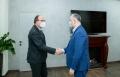 Intilnire de lucru intre Igor Dodon si Daniel Ionita, ambasadorul Romaniei