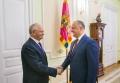 IGOR DODON A AVUT O INTREVEDERE CU AMBASADORUL EXTRAORDINAR SI PLENIPOTENTIAR AL FEDERATIEI RUSE IN R. MOLDOVA, FARIT MUHAMETSIN
