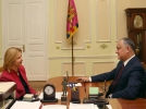 IGOR DODON, PRESEDINTELE REPUBLICII MOLDOVA A AVUT O INTREVEDERE CU BASCANUL GAGAUZIEI, IRINA VLAH