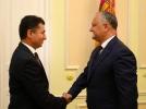 PRESEDINTELE R. MOLDOVA A AVUT O INTREVEDERE CU AMBASADORUL R. AZERBAIDJAN