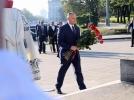 """Cu prilejul sarbatorii """"Limba noastra"""", presedintele tarii a depus flori la monumentul lui Stefan cel Mare"""