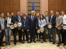 IGOR DODON, PRESEDINTELE REPUBLICII MOLDOVA S-A INTILNIT CU UN GRUP DE SPORTIVI MOLDOVENI