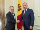 PRESEDINTELE REPUBLICII MOLDOVA A AVUT O INTREVEDERE CU AMBASADORUL FRANTEI IN TARA NOASTRA