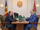PRESEDINTELE REPUBLICII MOLDOVA A AVUT O INTREVEDERE CU AMBASADORUL FEDERATIEI RUSE