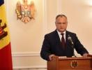 IGOR DODON A COMENTAT DECIZIA CURTII CONSTITUTIONALE DIN MOLDOVA DE A-L SUSPENDA TEMPORAR IN MOD REPETAT DIN FUNCTIA DE PRESEDINTE