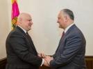 PRESEDINTELE R. MOLDOVA A AVUT O INTREVEDERE DE LUCRU CU PRESEDINTELE ADUNARII PARLAMENTARE A OSCE