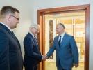 PRESEDINTELE REPUBLICII MOLDOVA A AVUT O INTREVEDERE CU MINISTRUL AFACERILOR EXTERNE AL REPUBLICII POLONE