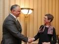 PRESEDINTELE R. MOLDOVA A AVUT O INTREVEDERE CU OFICIALI DE RANG INALT DIN CADRUL GUVERNULUI ELVETIEI