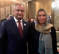 Intrevedere Dodon-Mogherini, la Teheran