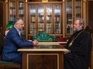 PRESEDINTELE REPUBLICII MOLDOVA A AVUT O INTREVEDERE CU INALT PREASFINTITUL MITROPOLIT AL CHISINAULUI SI AL INTREGII MOLDOVE