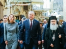 SEFUL STATULUI A AVUT O INTREVEDERE CU IPS THEOPHILOS III PATRIARHUL IERUSALIMULUI SI AL INTREGII PALESTINE